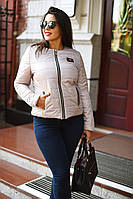 """Стильная женская куртка на синтепоне в больших размерах 8001-1 """"Весна-Осень"""" в расцветках"""