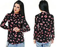 """Стильная женская блузка-рубашка 5192-1 """"Губки Неон"""" в расцветках"""