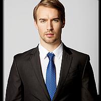 Краватка чоловічий Faberlic, колір чорно-синій