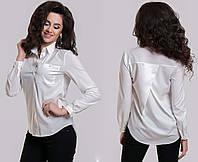 """Стильная женская нарядная блузка-рубашка 5239 """"Коттон Надпись Стразы"""" в расцветках"""