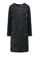 Платье со стразами, цвет черный