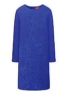 Платье со стразами, цвет ярко-синий