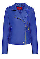 Куртка из экокожи, цвет ярко-синий
