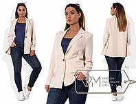 """Женский стильный летний пиджак в больших размерах 193-1 """"Креп Классика"""" в расцветках"""