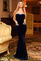 """Элегантное вечернее длинное платье """"Бархат Корсет"""" в расцветках"""