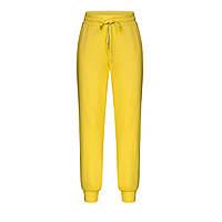 Трикотажные брюки для девочки, цвет ярко-желтый