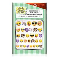 Переводные наклейки для ногтей «Эмоджи»