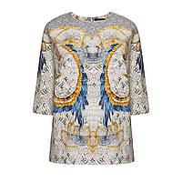 Трикотажная блузка, цвет светло-серый