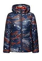 Куртка утепленная с капюшоном, цвет чернильный