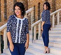 """Стильные женские летние брюки до больших размеров 656 """"Тиар Подворот"""" в расцветках"""
