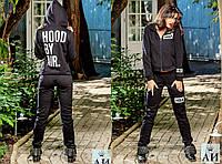 """Тёплый женский спортивный костюм на байке в больших размерах """"HBA"""""""