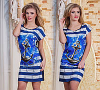 """Летнее женское платье-туника 2855 """"Love Marine"""""""