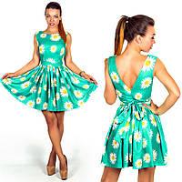 """Элегантное короткое летнее платье 894 """"Шёлк Ромашки"""" в расцветках"""