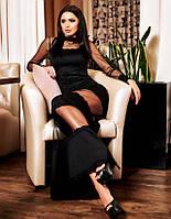 """Элегантное вечернее длинное платье 035 """"Рыбка Полосы Сетка"""""""