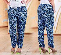"""Стильные летние женские брюки в больших размерах 1210 """"Турецкие Огурцы"""""""