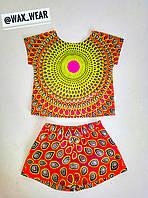 Летний комплект (шорты и блуза)