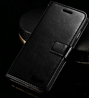Кожаный чехол-книжка для iPhone 7 Plus черный