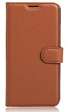 Кожаный чехол-книжка для Asus Zenfone Max ZC550KL коричневый
