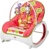 Fisher-Price Кресло-качалка с вибрацией шезлонг Цветочные конфетти стандартное с рождения до 4 лет Infant-to-T