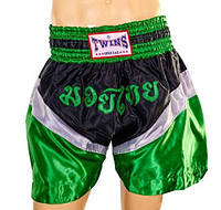Трусы для тайского бокса TWINS SPECIAL зеленые TW-6142-G-L размер L