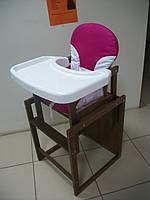 """Деревянный стульчик-трансформер  для кормления """"Елена"""". Расцветки в ассортименте, фото 1"""