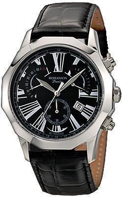 Наручные мужские часы Romanson PL6153HMWH BK оригинал