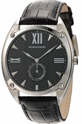 Наручные мужские часы Romanson TL1272JMWH BK оригинал