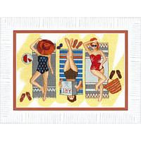 Набор для вышивания крестом  Чарівна Мить ВТ-164 Отдых у моря