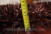 Дизайнерський килим, килими локшина шоколадний колір, сучасні елітні килими