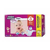 Подгузники Helen Harper Baby Midi 4-9кг 70шт