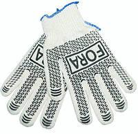 Перчатки трикотажные Fora 10 класс белый рисунок 15000