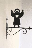 Кронштейн металлический для подвесных кашпо Ангел