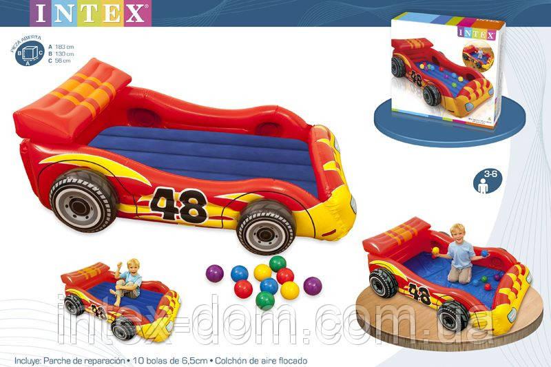 Игровой центр Intex Гоночная Машина с 10мячами Intex 48665