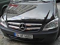 Хром накладки на решетку после Mercedes-Benz Vito/Viano W639 2010-2014