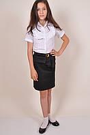 Юбка стрейчевая для девочки (цв.чёрный) AWADORE 0010 Рост:122,128,134