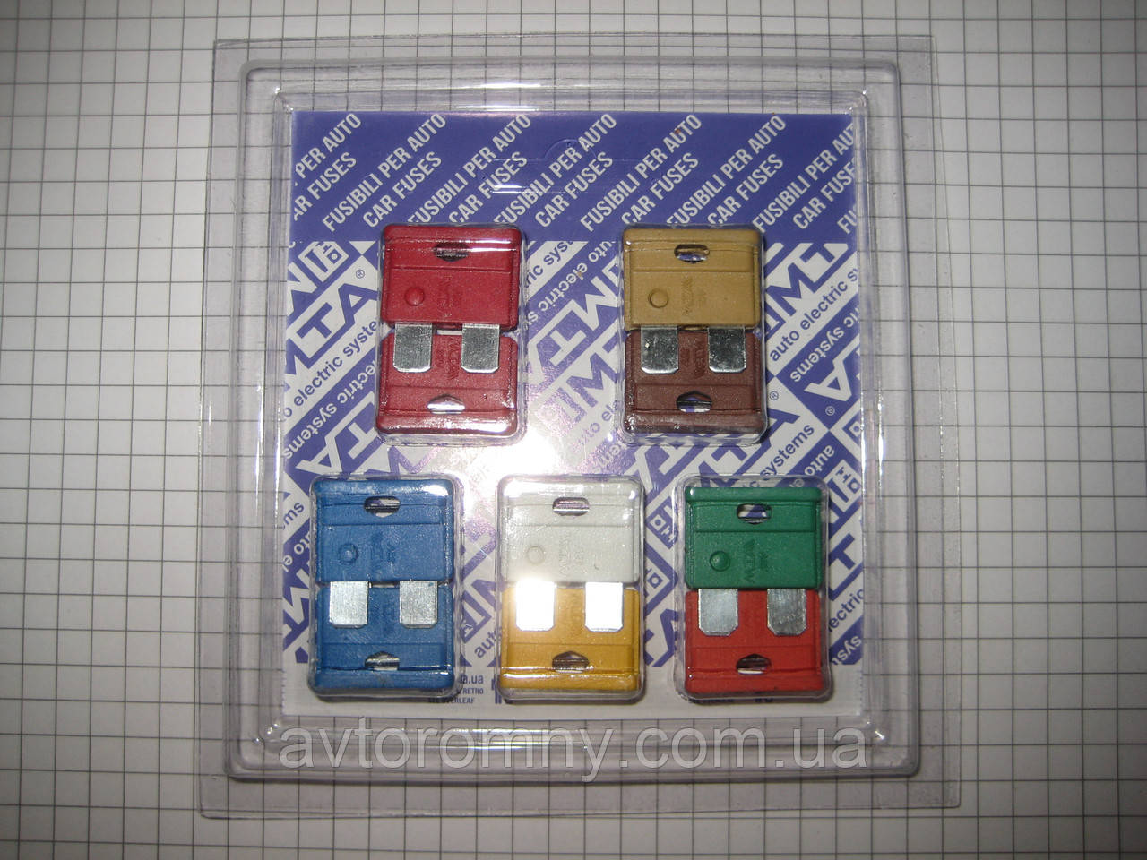 Предохранители плоские евро набор 10 шт MTA 14706