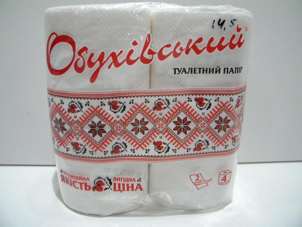 """Туалетная бумага """"Обуховская"""" 4-шт."""