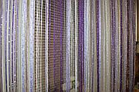Нитяная штора (кисея) фиолетовый-сиреневый-белый