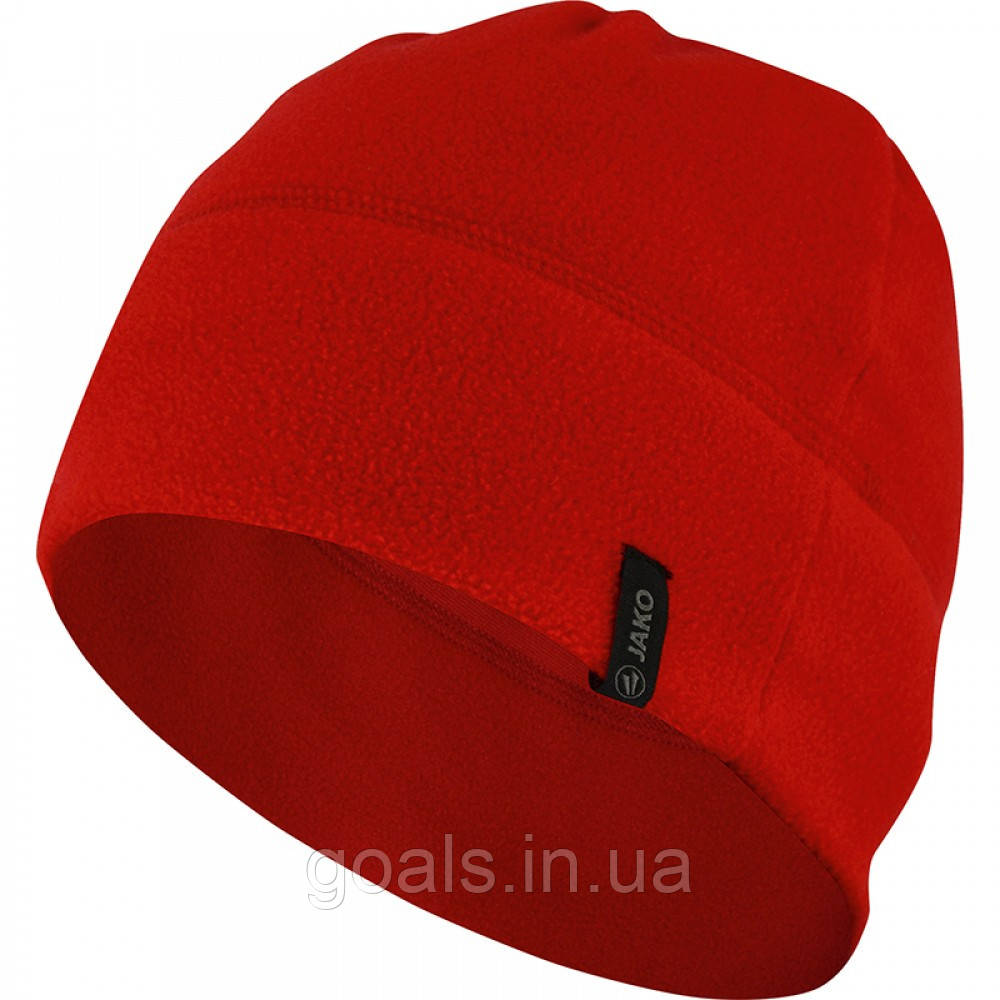 Fleece beanie (red)