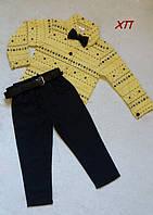 Нарядный костюм-двойка для мальчика с бабочкой (темно-синие штаны и бабочка) Турция на 2, 3 года
