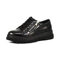 Туфли женские Sopra C16-5201 черная кожа