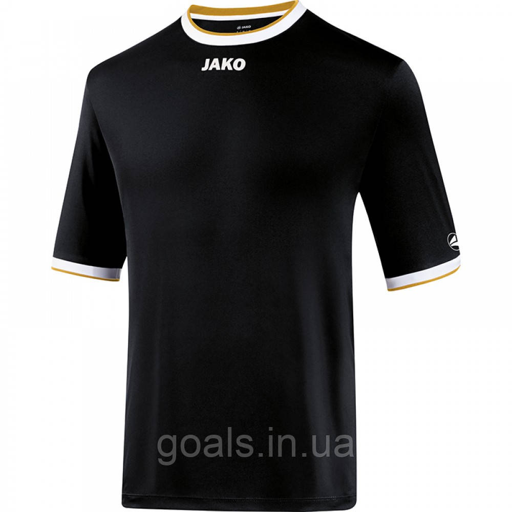 Футбольная футболка United (black/white/gold)
