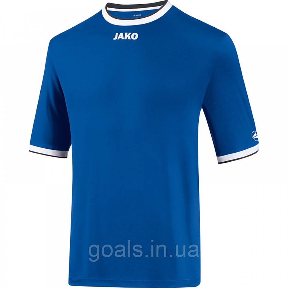Футбольная футболка United  (royal/white/black)