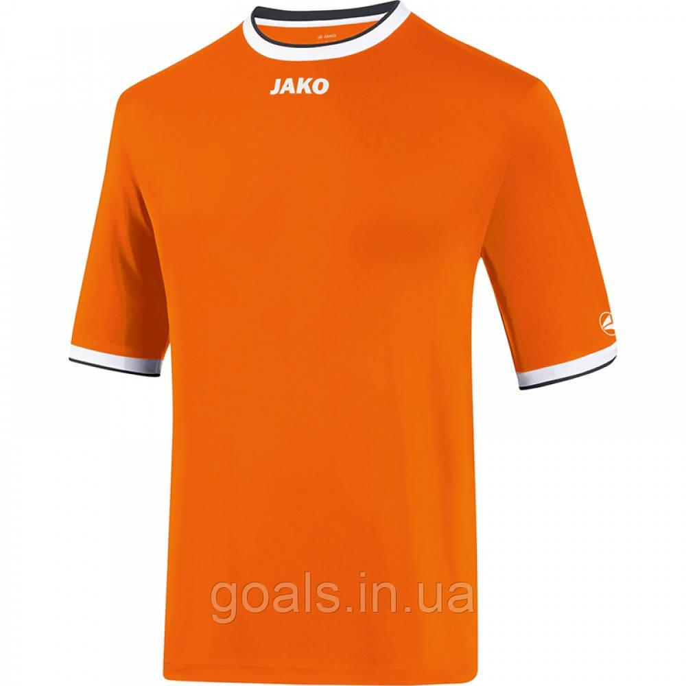 Футбольная футболка United  (neon orange/white/black)