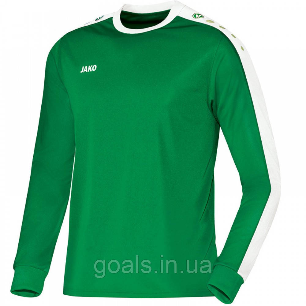 Футболка футбольная с длинным рукавом Jersey Striker L/S (sport green/white)