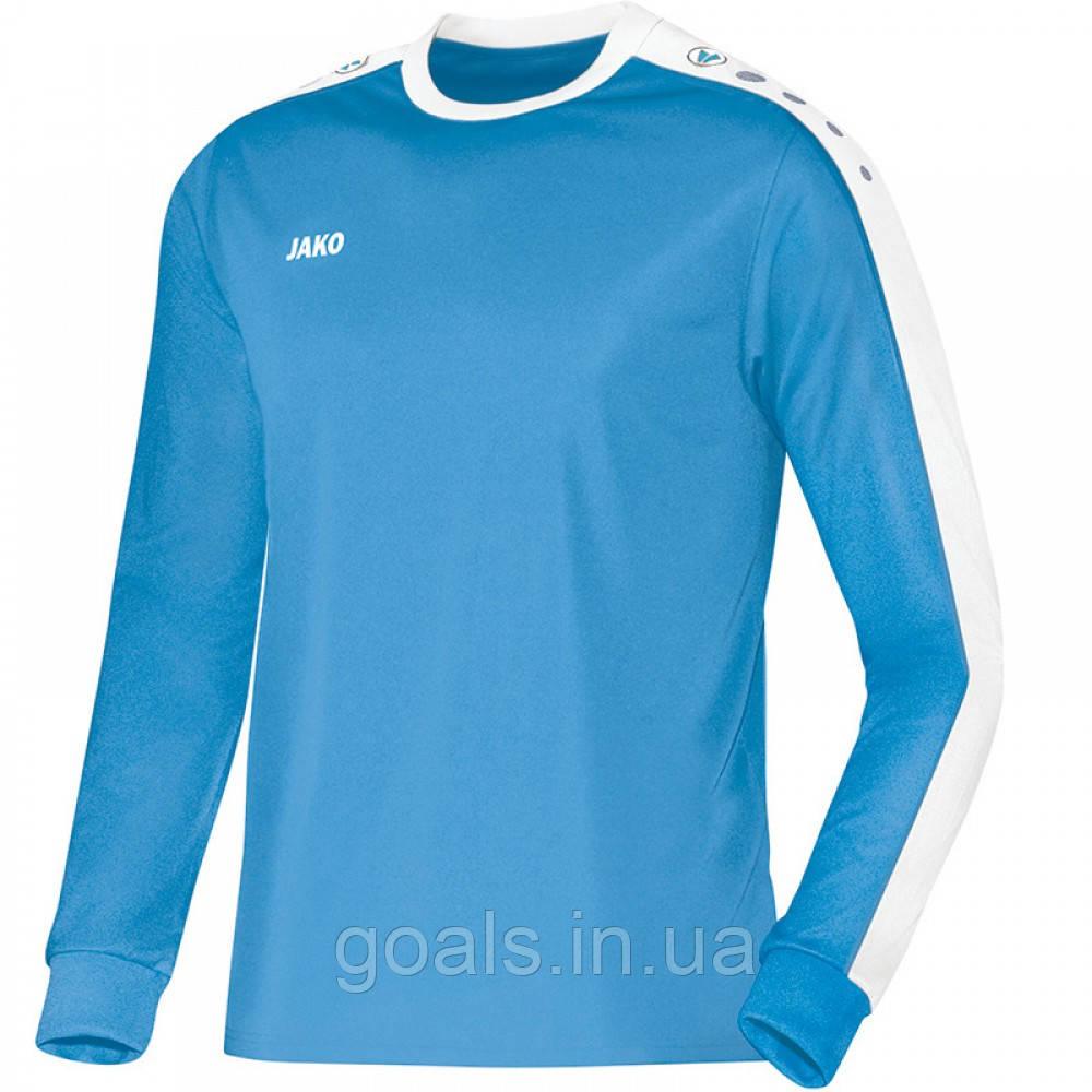 Футболка футбольная с длинным рукавом Jersey Striker L/S (sky blue/white)