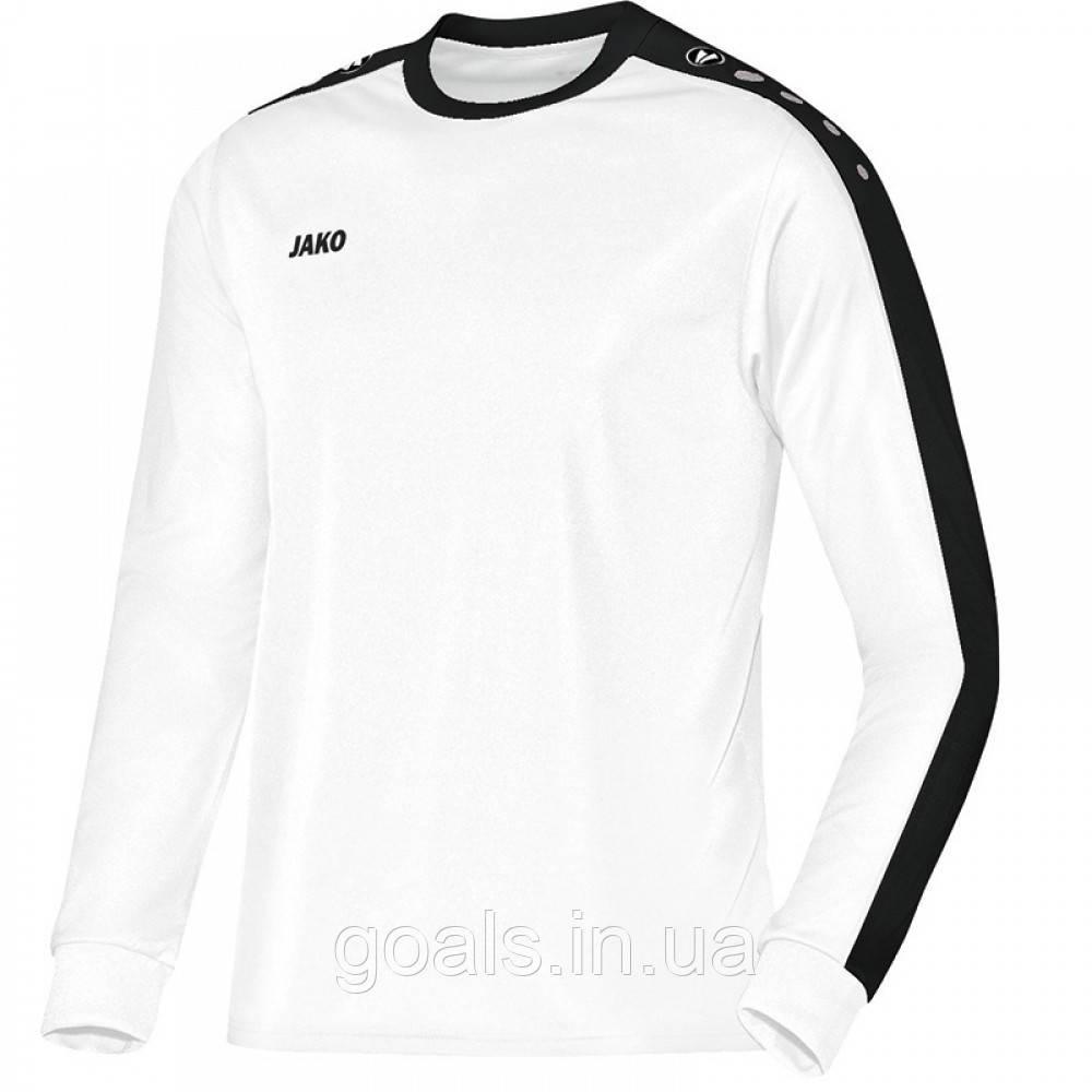 Футболка футбольная с длинным рукавом Jersey Striker L/S (white/black)
