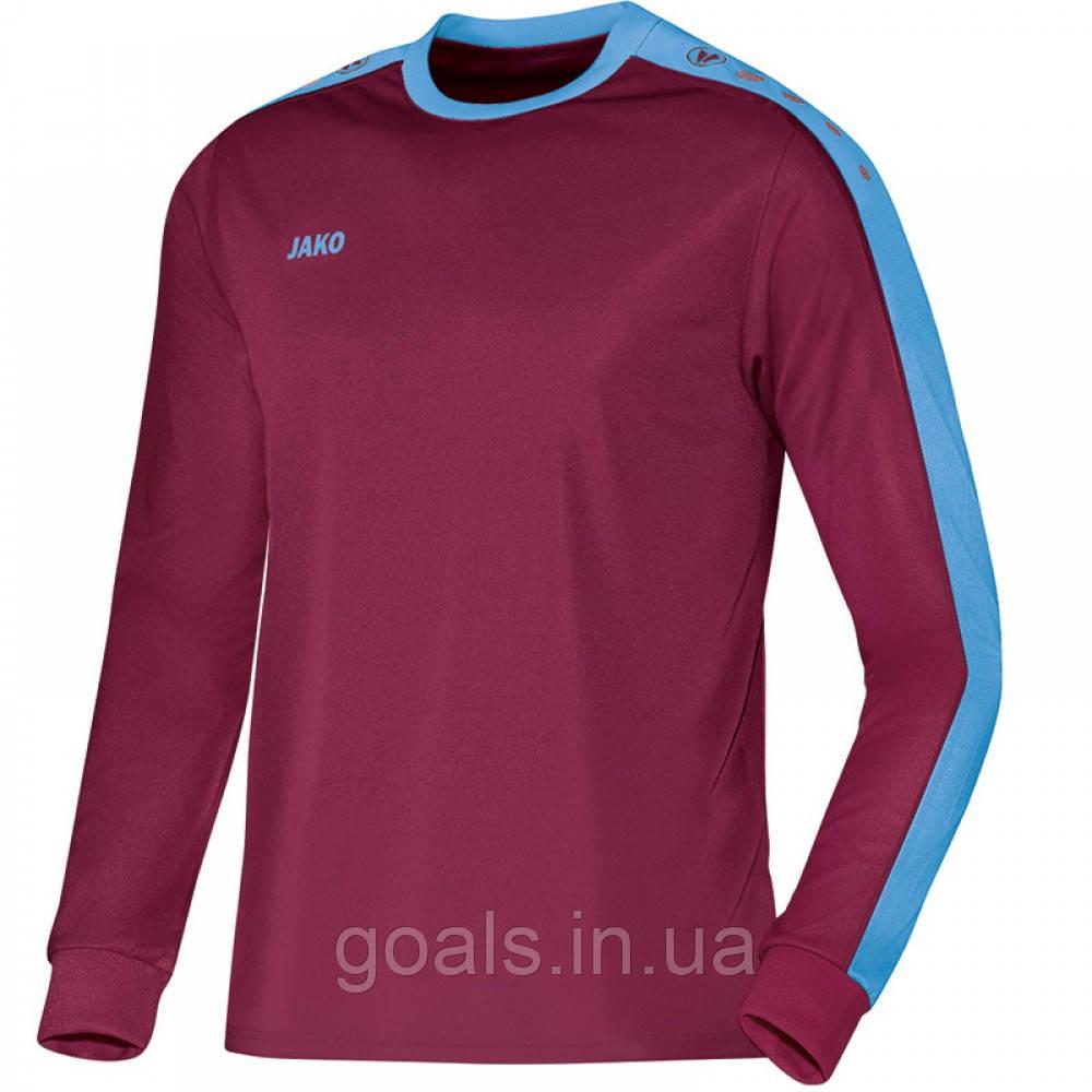 Футболка футбольная с длинным рукавом Jersey Striker L/S (maroon/sky blue)
