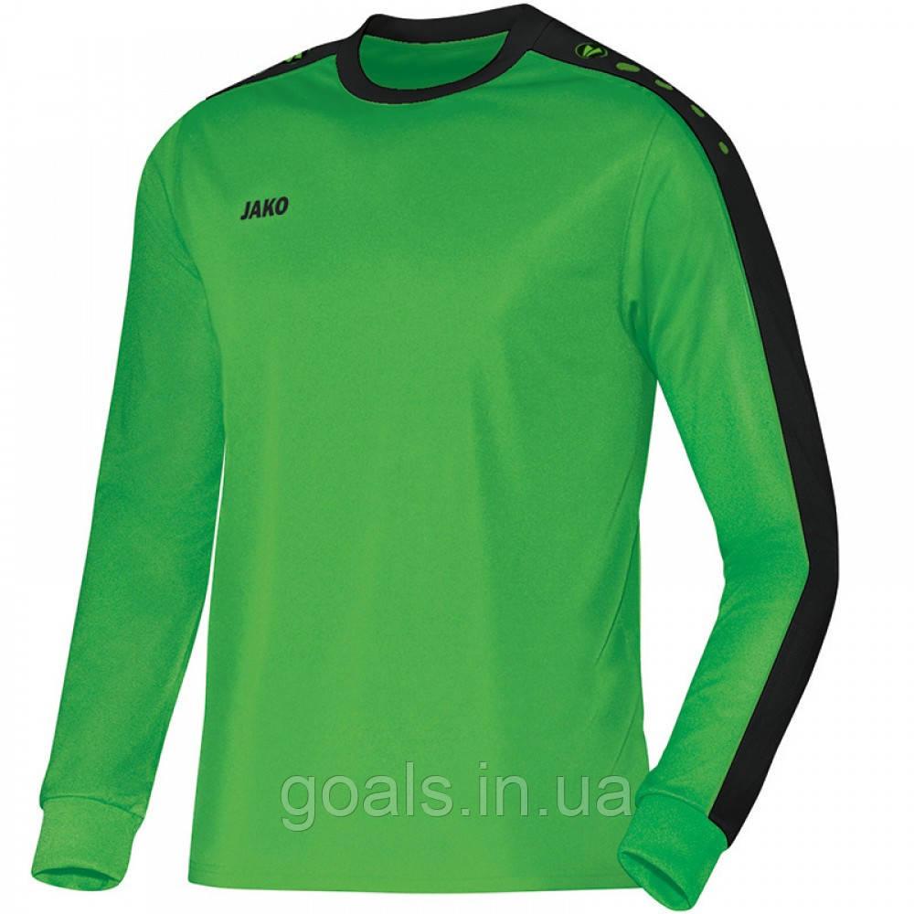 Футболка футбольная с длинным рукавом Jersey Striker L/S (soft green/black)