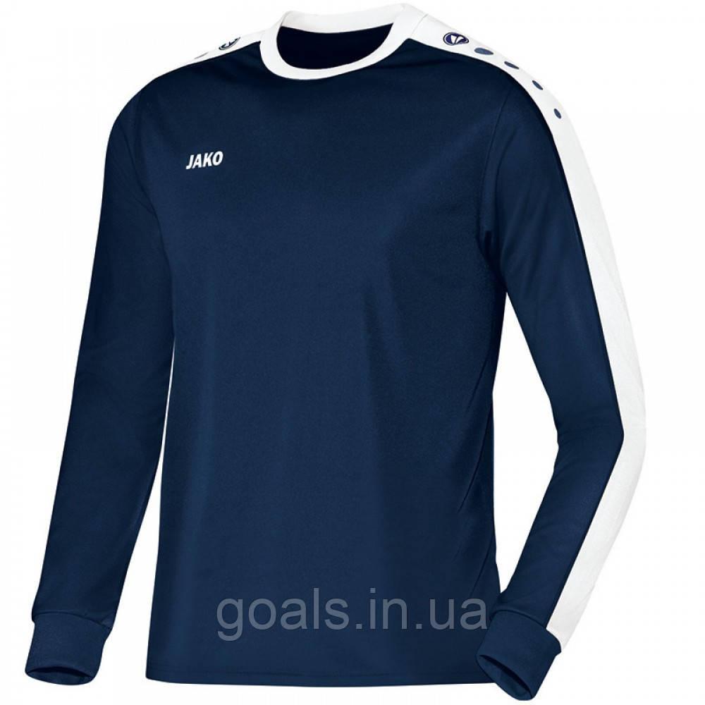 Футболка футбольная с длинным рукавом Jersey Striker L/S (navy/white)